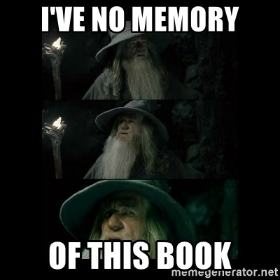 Confused Gandalf - I've no memory of this book