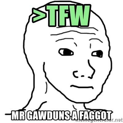 That Feel Guy - >tfw mr gawduns a faggot