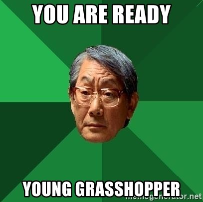 High Expectations Asian Father - you are ready young grasshopper
