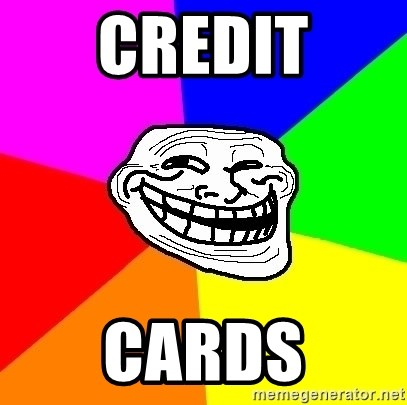 Trollface - Credit Cards