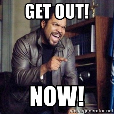 Ice Cube 21 Jump Street - Get out! Now!