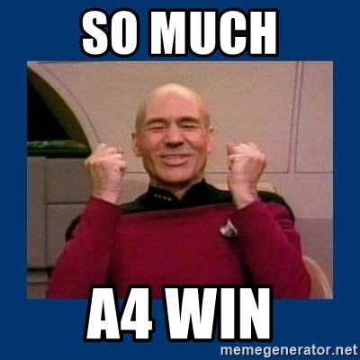 Captain Picard So Much Win! - SO MUCH A4 WIN