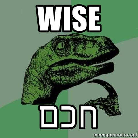 Philosoraptor - WISe חכם