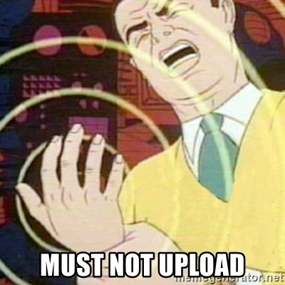 must not fap -  Must not upload