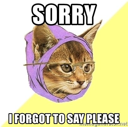 Hipster Kitty - Sorry I forgot to say please