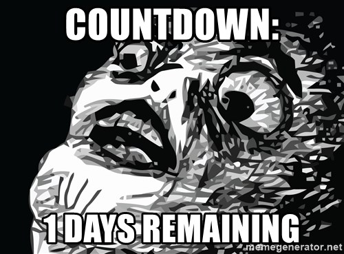 shocked - Countdown: 1 Days Remaining