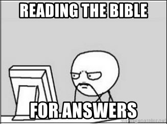 computer guy - reading the bible for answers