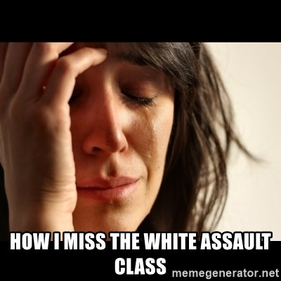 crying girl sad -  How i miss the white ASSAULT class