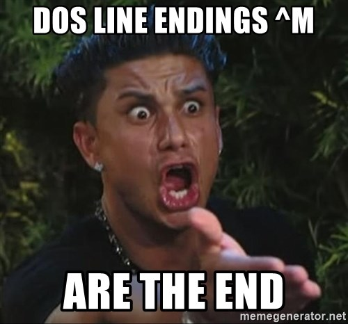 Pauly D - DOS LINE ENDINGS ^M ARE THE END