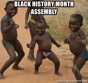 african children dancing - BLACK HISTORY MONTH ASSEMBLY