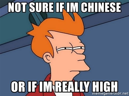 Futurama Fry - not sure if im chinese or if im really high