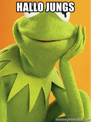 Kermit the frog - HALLO JUNGS