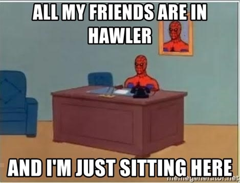 Spiderman Desk - all my friends are in hawler and i'm just sitting here