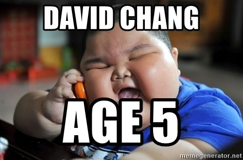 Fat Asian Kid - DAVID CHANG AGE 5