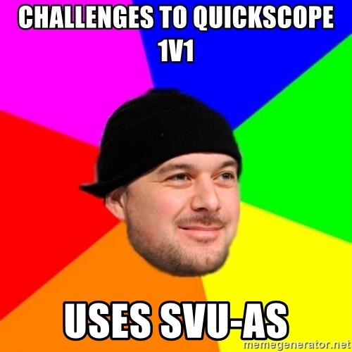 King Kool Savas - CHALLENGES TO QUICKSCOPE 1V1 uses svu-as