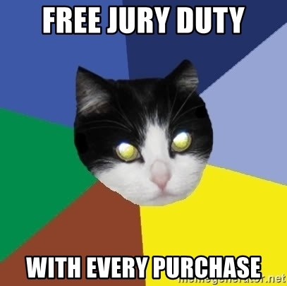 Winnipeg Cat - free jury duty with every purchase