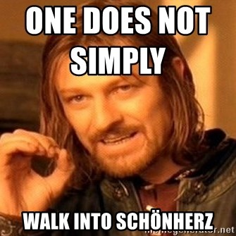 One Does Not Simply - one does not simply                     walk into schönherz