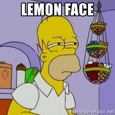 Simpsons' Homer - LEMON FACE