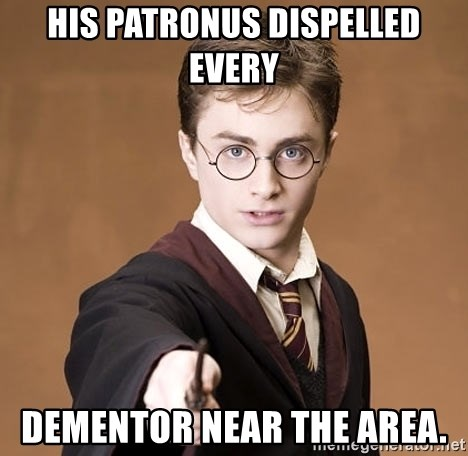 Advice Harry Potter - his patronus dispelled every dementor near the area.