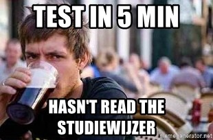 The Lazy College Senior - TEST IN 5 MIN haSN'T READ THE STUDIEWIJZER