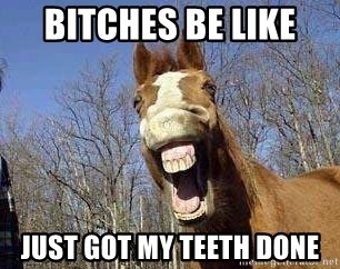 Horse - BITCHES BE LIKE  JUST GOT MY TEETH DONE