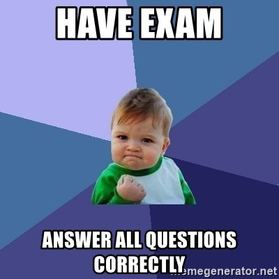 Success Kid - Have Exam Answer all questions correctly