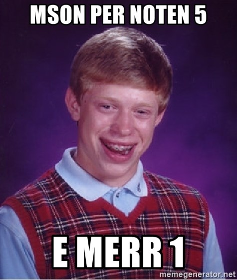 Bad Luck Brian - mson per noten 5 e merr 1