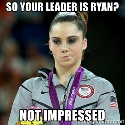 Not Impressed McKayla - So your leader is ryan? not impressed
