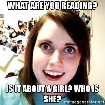 OAG - What are you reading? is it about a girl? who is she?