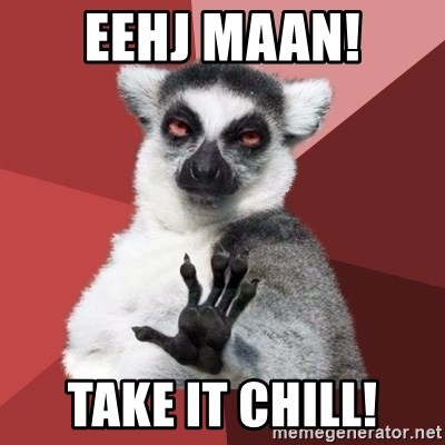 Chill Out Lemur - EEHJ MAAN! TAKE IT CHILL!