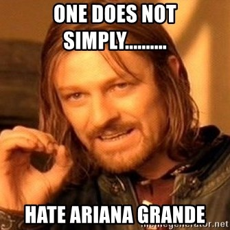 One Does Not Simply - one does not simply.......... hate ariana grande