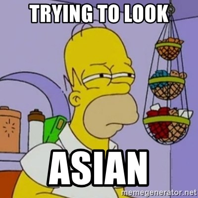 Simpsons' Homer - TRYING TO LOOK ASIAN