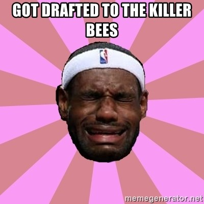 LeBron James - GOT DRAFTED TO THE KILLER BEES
