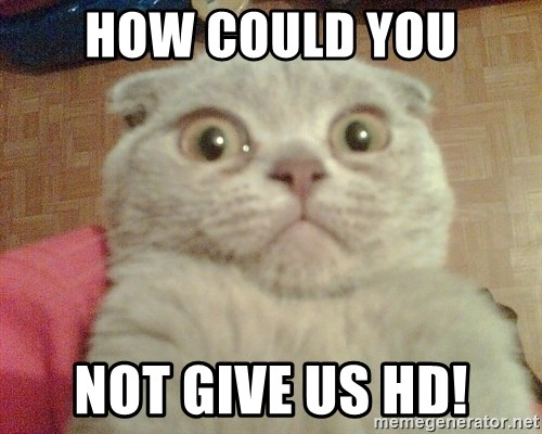GEEZUS cat - HOW COULD YOU NOT GIVE US HD!