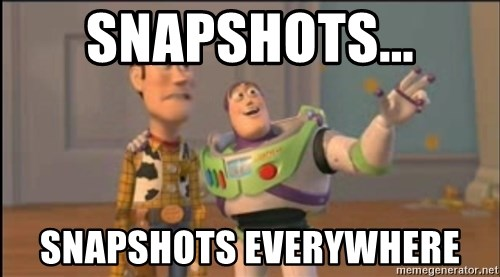 X, X Everywhere  - SNapshots... snapshots everywhere