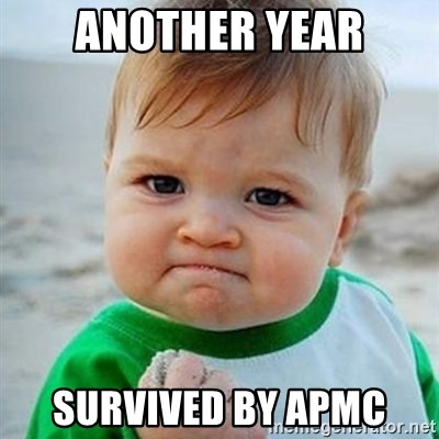 Victory Baby - another year survived by APMC