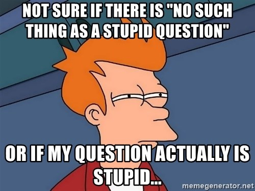 """Futurama Fry - Not sure if there is """"no such thing as a stupid question"""" or if my question actually is stupid..."""