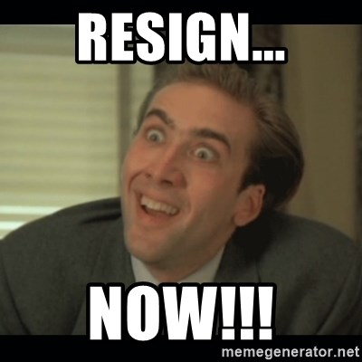 Nick Cage - RESIGN... NOW!!!