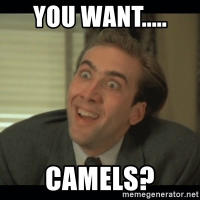 Nick Cage - YOU WANT..... CAMELS?