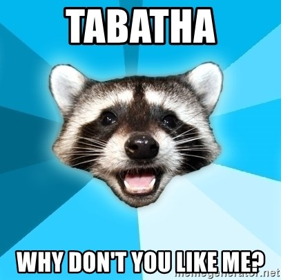 Lame Pun Coon - Tabatha why don't you like me?