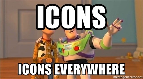 Consequences Toy Story - icons icons everywhere