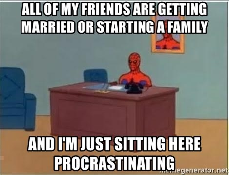 Spiderman Desk - all of my friends are getting married or starting a family and i'm just sitting here procrastinating