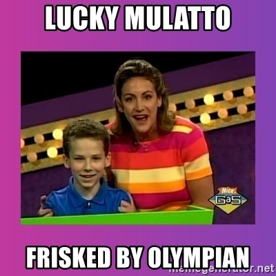 sam meme - lucky mulatto frisked by olympian