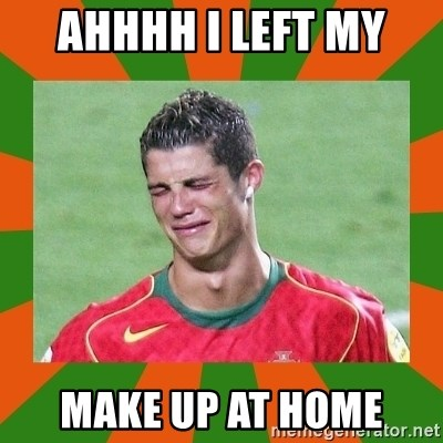cristianoronaldo - AHHHH I LEFT MY  MAKE UP AT HOME