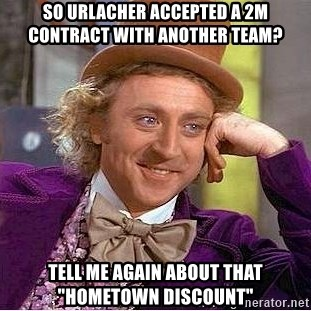 "Willy Wonka - So urlacher accepted a 2M contract with another team? Tell me again about that ""Hometown Discount"""