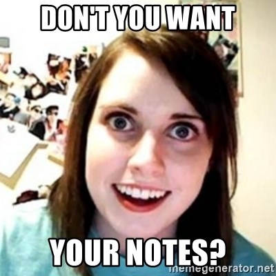 OAG - Don't you want your notes?