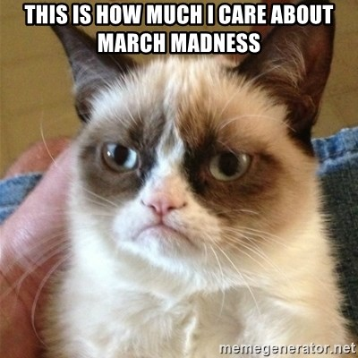Grumpy Cat  - This is how much i care about march madness