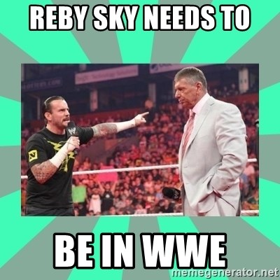 CM Punk Apologize! - reby sky needs to  be in wwe