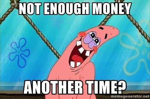 Patrick Starrape - NOT ENOUGH MONEY ANOTHER TIME?