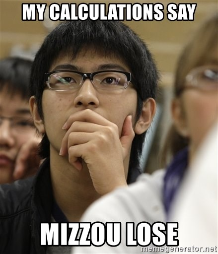 Asian College Freshman - My calculations say Mizzou lose